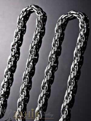 Висококачествен непроменящ цвета си ланец ,стилна плетка, дълъг 60 см, широк 0,7 см - ML1207