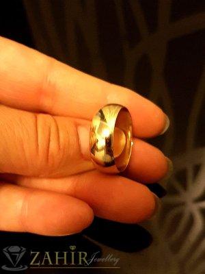 Класическа изчистена позлатена халка, подходяща за свадбени ритуали - P1463
