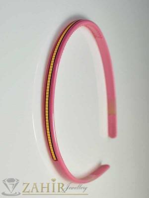 Пластмасова диадема - розова - D1043