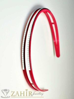 Пластмасова диадема - циклама - D1046