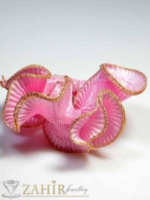 Бонбонено-розов двулицев ластик за коса - L1014