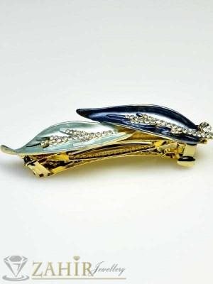 Луксозна шнола с цветен емайл и кристали за цялата коса - HC1003