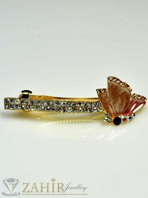 Луксозна шнола с цветен емайл и кристали за цялата коса - HC1018