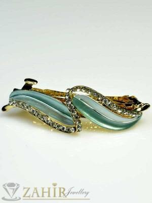 Луксозна шнола с цветен емайл и кристали за цялата коса - HC1026