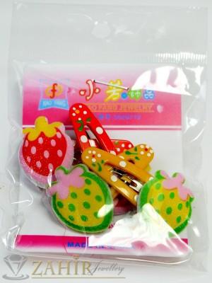 Комплект цветни детски фиби - DF1008