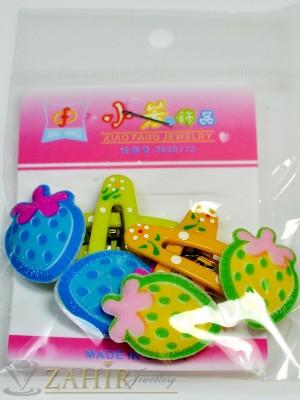 Комплект цветни детски фиби - DF1011