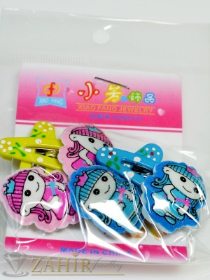 Комплект цветни детски фиби - DF1013