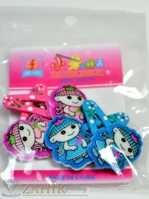 Комплект цветни детски фиби - DF1014
