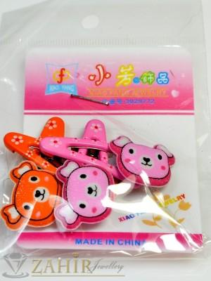 Комплект цветни детски фиби - DF1017