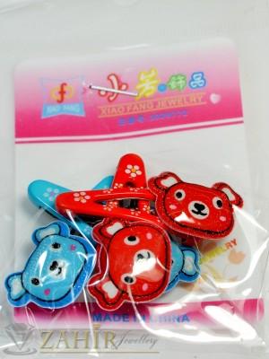 Комплект цветни детски фиби - DF1018
