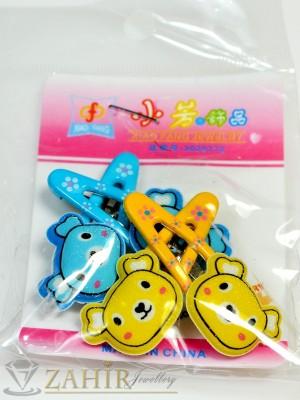 Комплект цветни детски фиби - DF1019