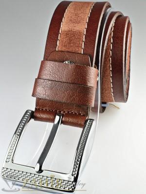 Колан бордо с протрит ефект и шевове, от естествена телешка кожа стилна класическа тока широк 4,5 см - BM1080