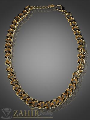 Актуален ланец златно покритие, широк 0,9 см, дължина - 40+5 см - K1316