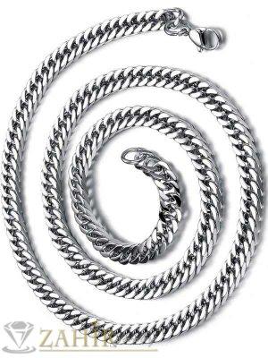 Мъжки ланец 60 см от неръждаема стомана класическа плетка широк 0,6 см - MK1136