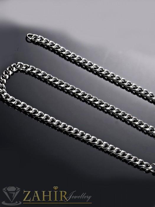 Изчистен стоманен ланец класическа плетка, дълъг 56 см, широк 0,6 см - ML1206