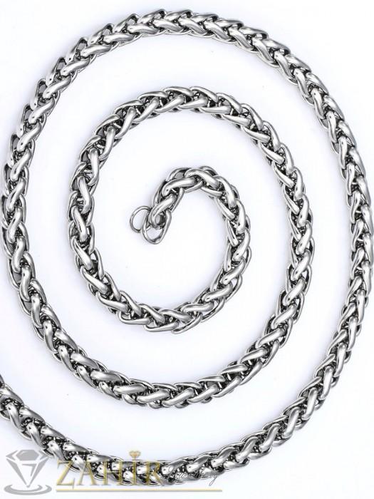 Колиета - Тънък мъжки ланец от неръждаема стомана широк 0,6 см, дължина 60 см - ML1036