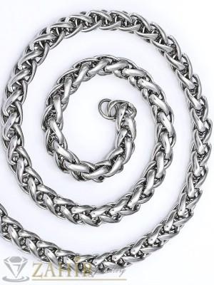 Стилен мъжки ланец от неръждаема стомана широк 0,6 см, дължина 60 см - ML1037
