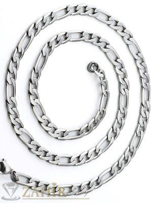 Мъжки ланец от неръждаема стомана в 3 размера, широк 0,6 см, класическа фигаро плетка - ML1040