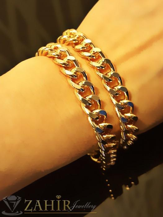 Дамски бижута - Модна гривна класическа плетка с 2 реда верижки с златно покритие - дълга 45 см - G1686