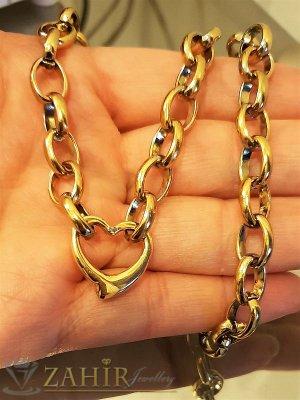 Нежно стоманено сърце 1,8 см на стилен дамски ланец в 3 размера, позлатена стомана- K1576