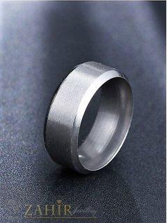 Висококачествена матово гравирана халка от неръждаема стомана, за сватбен ритуал - P1402