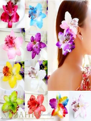 Цветна орхидея, аксесоар за коса или дреха в 6 налични цвята - ST1060