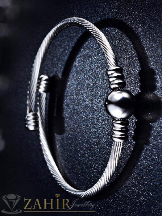 Дамски бижута - Висококачествена регулираща се класическа гривна, изчистен модел, в златно или сребърно - G1933