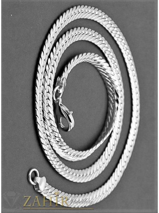 Дамски бижута - Впечатляваща верижка 55 см от висококачествена неръждаема стомана змийска плетка,широка 0,7 см - K1689