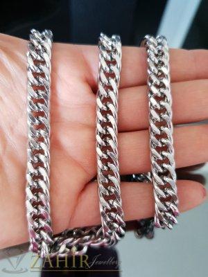 Висококачествен стоманен вечен ланец, класическа плетка, дълъг 60 см, широк 0,8 см - ML1416
