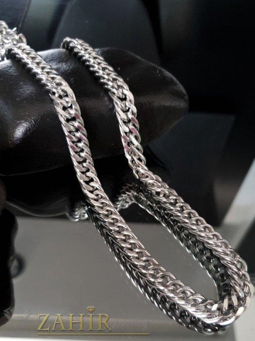 Бижута за мъже - Висококачествен стоманен вечен ланец, класическа плетка, дълъг 60 см, широк 0,8 см - ML1416