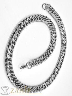 Висококачествен стоманен ланец 60 см, класическа плетка, широк 0,7 см - ML1440