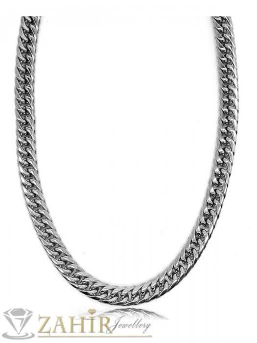 Бижута за мъже - Висококачествен стоманен ланец 60 см, класическа плетка, широк 0,7 см - ML1440