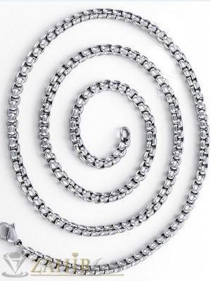Висококачествен стоманен ланец в 3 размера, широк 0,4 см, не променя цвета си - ML1443