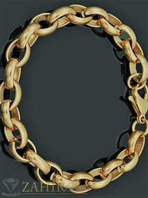 Хитов модел верижка от стомана със златно покритие, налична в 4 дължини, ширина на плетката 0,8 см - G2068