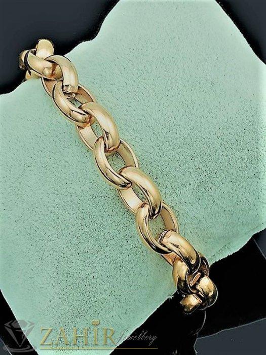 Дамски бижута - Хитов модел верижка от стомана със златно покритие, налична в 4 дължини, ширина на плетката 0,8 см - G2068