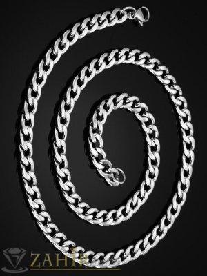 Класическа верижка от неръждаема стомана 0, 5 см широка с нежни заоблени звена, 4 дължини - ML1547