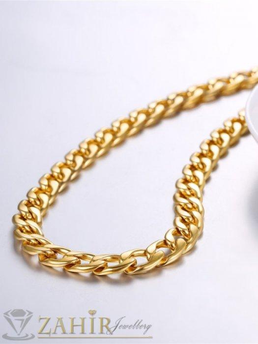 Универсален стоманен синджир в 4 размера с нежни заоблени елементи, златно покритие, ширина 0,5 см - ML1550