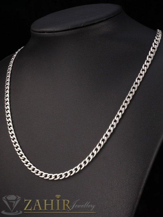 Бижута за мъже - Тънък стоманен синджир в 4 размера с нежни заоблени елементи,не променя цвета си, ширина 0,4 см - ML1552