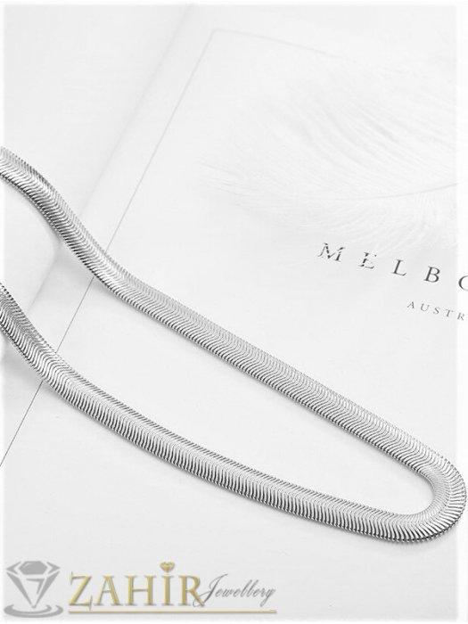 Мъжки бижута - Елегантен ланец със змийска плетка от неръждаема стомана , дълъг 56 см, широк 0,6 см, не променя цвета си - ML1569
