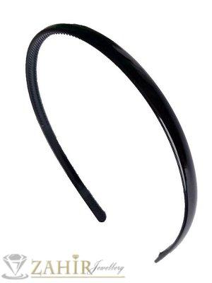 Черна пластмасова диадема класически модел, среднo широка - 1,2 см - D1010