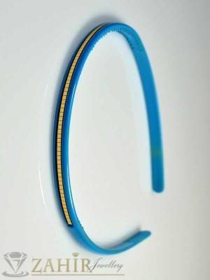 Пластмасова диадема - синя - D1036