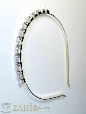 Метална диадема с кристали - D1068