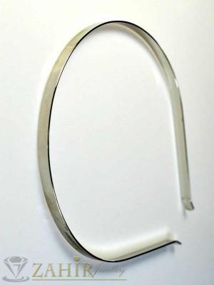 Изчистена метална сребриста диадема - D1081