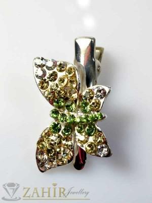 Луксозна метална шнола с цветни кристали - FI1038