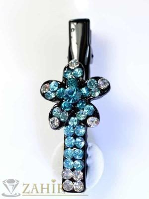 Луксозна метална шнола с цветни кристали - FI1046
