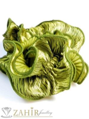 Светлозелен двулицев ластик за коса - L1048