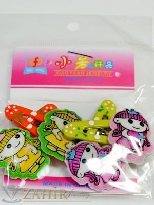 Комплект цветни детски фиби - DF1015