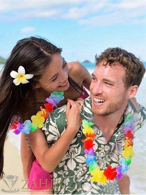 Парти хавайски венец от цветя 90 см в 8 различни десена за вашия празник - K1408