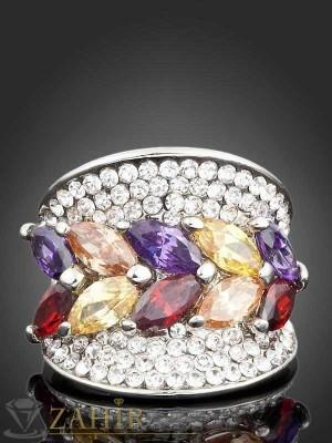 Великолепни цветни кристали и платинено покритие - P1248